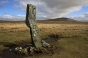 The Longstone Standing Stone (Langstone Moor), Peter Tavy, Dartmoor National Park