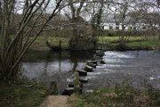 Dunsford Stepping Stones, Dunsford, Dartmoor National Park