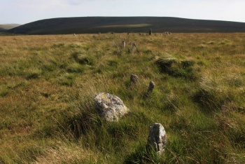 Stall Moor Stone Row, Cornwood, Dartmoor National Park