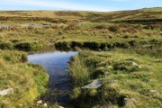 Shavercombe Tor and Waterfall, Sheepstor, Dartmoor National Park