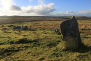Trowlesworthy Stone Row (West), Shaugh Prior, Dartmoor National Park