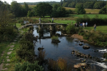 Postbridge Clapper Bridge, Postbridge, Dartmoor National Park
