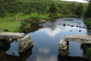 Bellever Clapper Bridge, Bellever, Dartmoor National Park