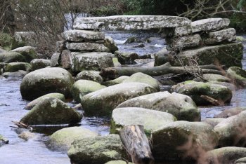 Dartmeet Clapper Bridge, Dartmeet, Dartmoor National Park