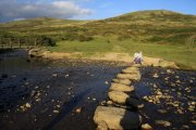 The Dartmoor Inn/River Lyd Stepping Stones, Lydford, Dartmoor National Park