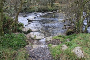 Dartmeet Stepping Stones, Dartmeet, Dartmoor National Park